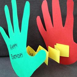 简单又有创意的手掌生日贺卡手工制作方法