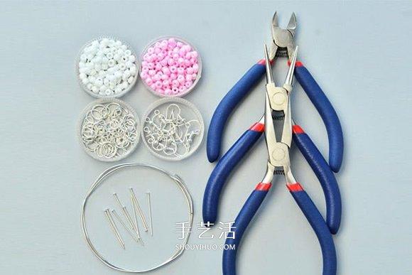 DIY串珠圓環耳環的製作方法 新手也輕鬆搞定!