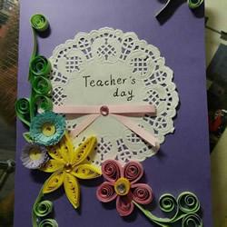 自制好看教师节衍纸花贺卡的制作方法教程