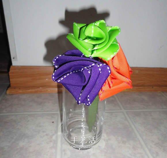 手工緞帶折玫瑰花的教程圖解 簡單又美麗!