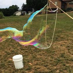自制简易大型泡泡机的制作方法教程