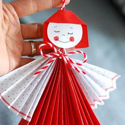 简单又可爱纸娃娃挂饰手工制作方法教程