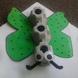 幼儿园手工制作鸡蛋盒蝴蝶的方法教程
