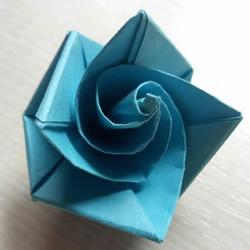 简单又漂亮玫瑰花的折纸方法图解步骤