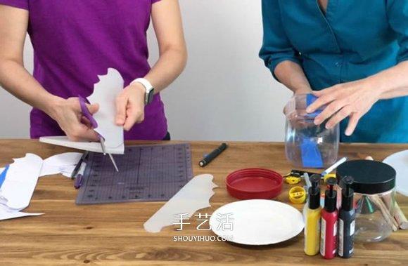 塑料瓶废物利用DIY制作儿童潜水艇玩具 -  www.shouyihuo.com