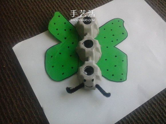 幼儿园手工制作鸡蛋盒蝴蝶的方法教程 -  www.shouyihuo.com