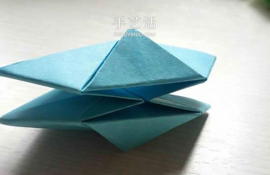 简单又漂亮玫瑰花的折纸方法图解步骤 -  www.shouyihuo.com