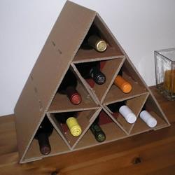 自制硬纸板葡萄酒架的制作方法图解步骤