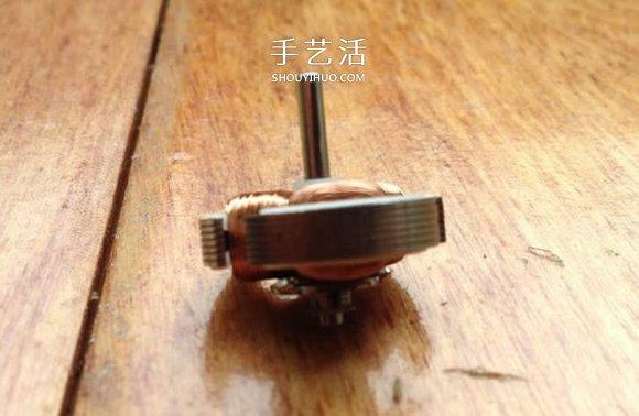 用旧马达DIY制作酷炫陀螺的方法教程 -  www.shouyihuo.com