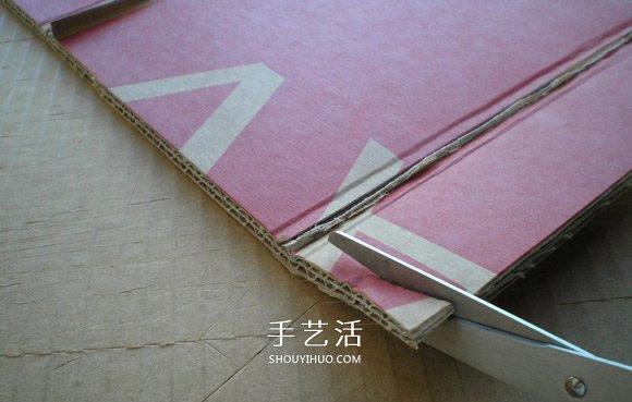 自制硬纸板葡萄酒架的制作方法图解步骤 -  www.shouyihuo.com