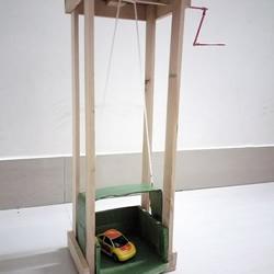 自制简易汽车电梯玩具的制作方法教程