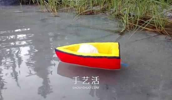 小学生简单手工制作气球动力船的方法教程 -  www.shouyihuo.com