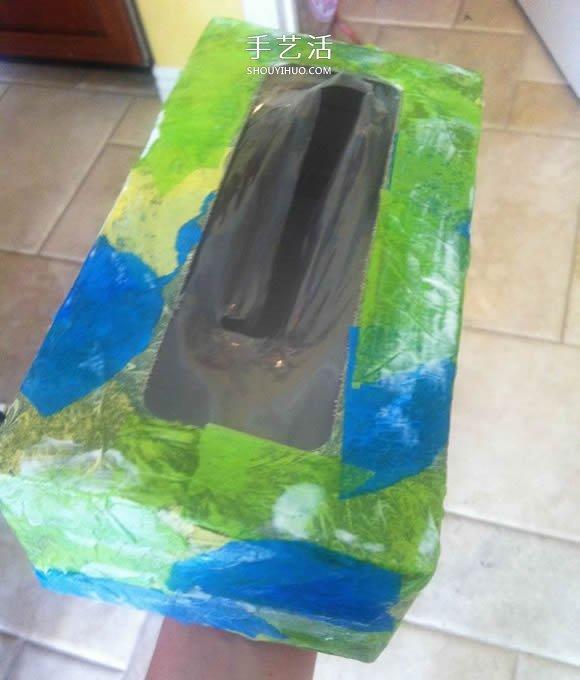 纸巾盒废物利用 手工制作万圣节怪物鞋 -  www.shouyihuo.com