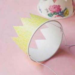 一次性纸碗废物利用 手工制作可爱皇冠的方法