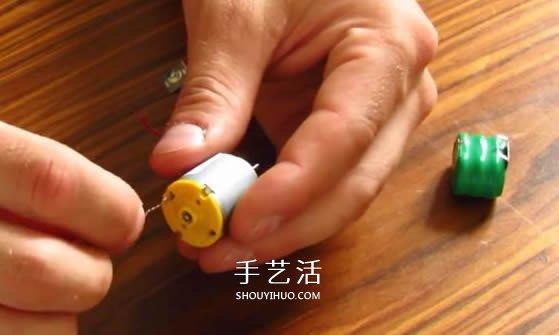 科技小制作:怎么制作能飞的马达小飞机图解 -  www.shouyihuo.com