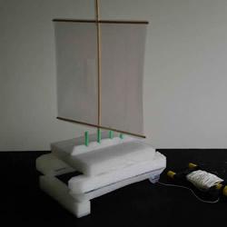 用泡沫板做双体帆船的制作方法图解教程