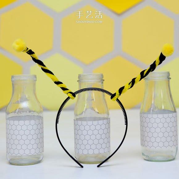 變身小蜜蜂!用扭扭棒做蜜蜂頭飾的製作方法