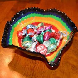 塑料串珠放入烤箱 DIY制作精美糖果盘的做法