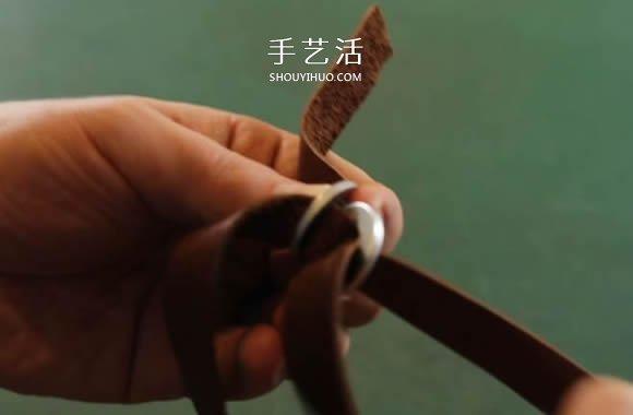 金属垫圈DIY制作皮革手镯 送男友的好礼物! -  www.shouyihuo.com