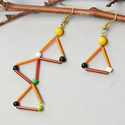 适合新手的串珠耳环DIY制作图解教程