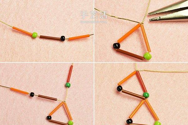 適合新手的串珠耳環DIY製作圖解教程