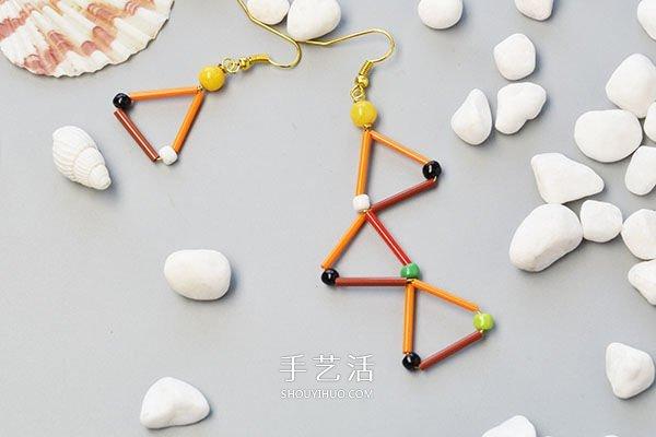 适合新手的串珠耳环DIY制作图解教程 -  www.shouyihuo.com