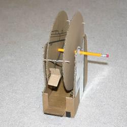 硬纸板手工制作摩天轮玩具的方法教程
