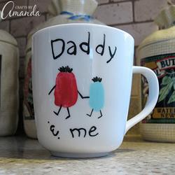 自制父亲节手绘陶瓷水杯礼物的制作方法