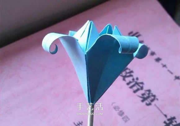 简单折纸百合花的折叠方法过程图解 -  www.shouyihuo.com