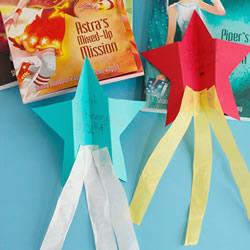 幼儿园用纸手工制作许愿流星的方法