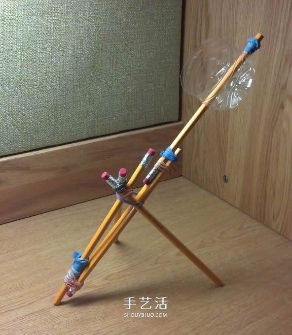 投石机的简单小制作 几根铅笔就可以搞定! -  www.shouyihuo.com