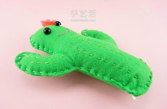簡單又可愛布藝仙人掌玩偶的製作方法圖解