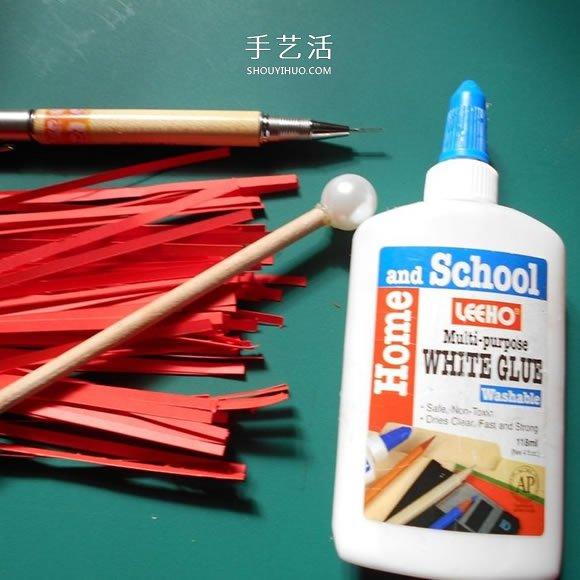 衍纸手工制作绝美玫瑰花的方法图解 -  www.shouyihuo.com