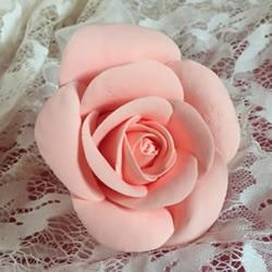 超轻粘土玫瑰花的手工制作方法图解