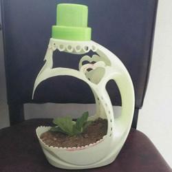 洗衣液瓶手工雕刻 DIY制作优雅花盆的方法