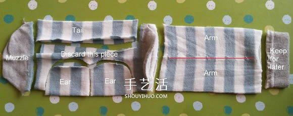 简单自制布娃娃!袜子猴的制作方法图解 -  www.shouyihuo.com