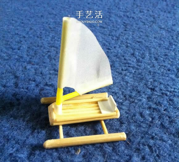 烤串竹签废物利用 手工制作迷你浮桥船的方法 -  www.shouyihuo.com