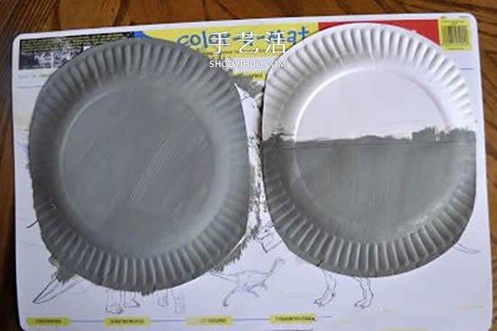 幼儿园手工制作纸盘河马的图解教程 -  www.shouyihuo.com