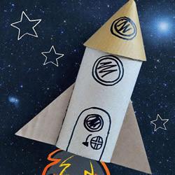 幼儿园废物利用做火箭模型的制作方法