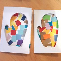 可爱冬季手套图案贺卡的制作方法