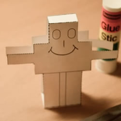 最简单机器人纸模型的制作方法