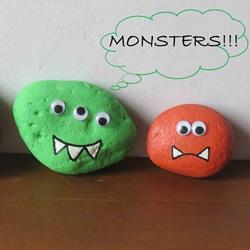 万圣节怪物石头画入门教程