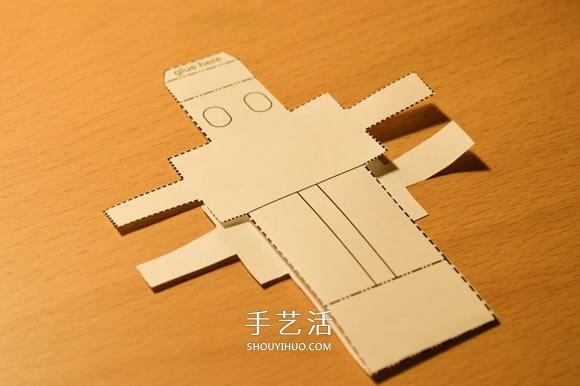 最简单机器人纸模型的制作方法 -  www.shouyihuo.com