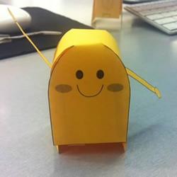 超萌纸机器人模型的做法