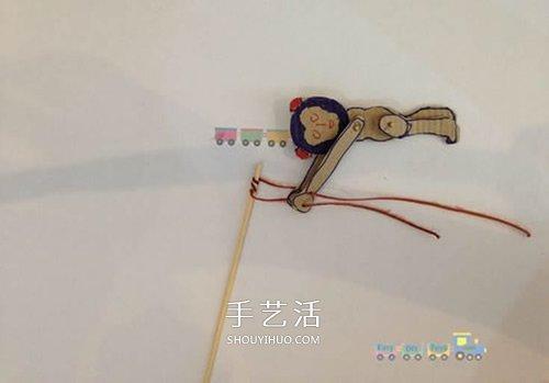 有趣的纸板猴子玩具的制作方法 -  www.shouyihuo.com