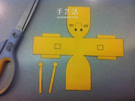 超萌纸机器人模型的做法 -  www.shouyihuo.com