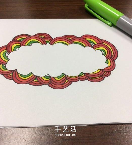 DIY制作彩虹感恩卡的手绘教程 -  www.shouyihuo.com