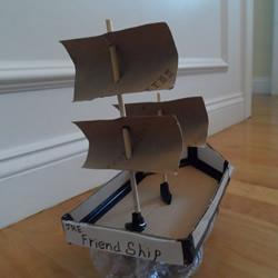 废物利用做玩具船的方法