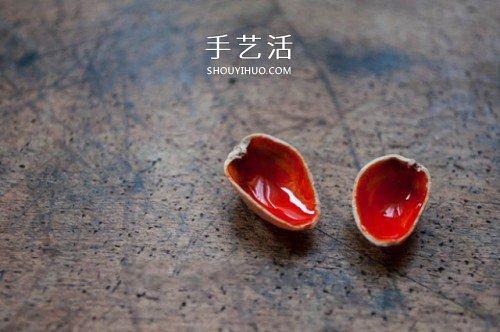 开心果壳制作小巧胸针的方法 -  www.shouyihuo.com