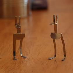 发夹手工制作袋鼠图解